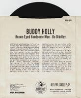 BUDDY HOLLY Brown-Eyed Handsome Man Vinyl Record 7 Inch MCA 1984